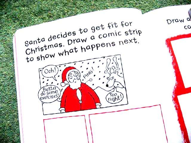 Xmas comic strip