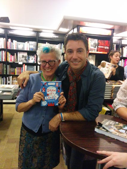 SK and Gino at waterstones picc