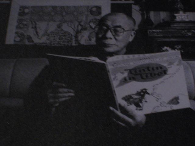 Dalai Lama reads Tintin